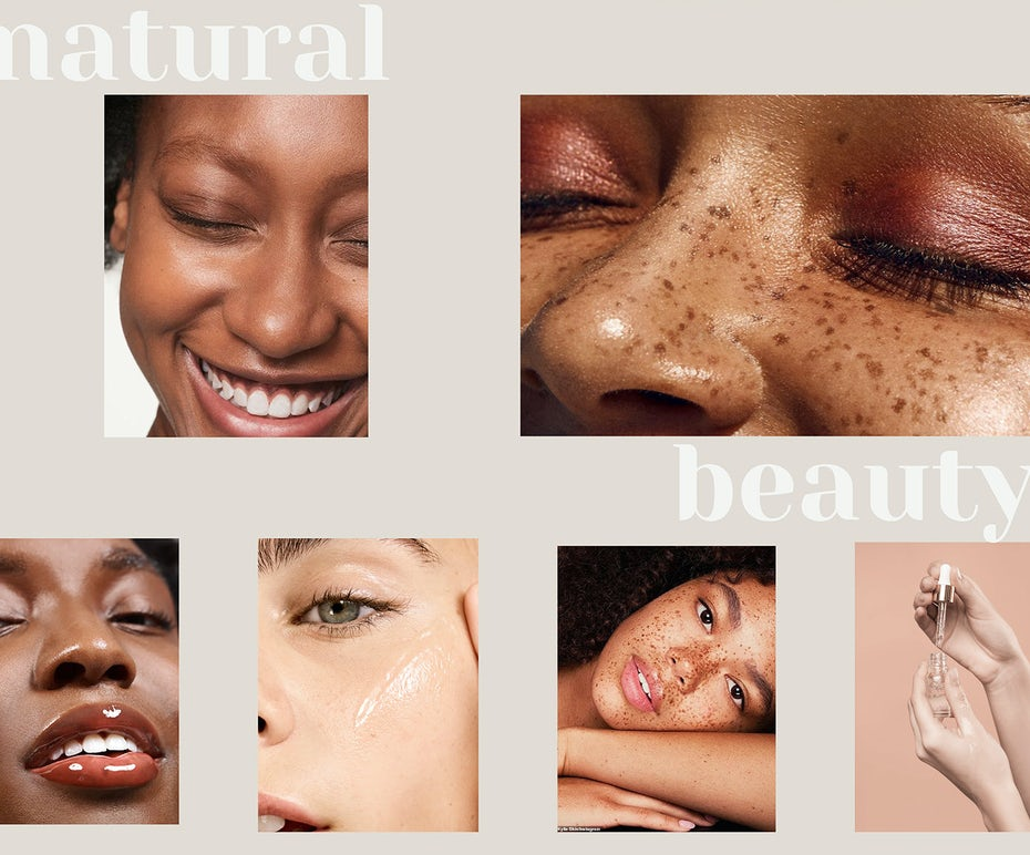 beauty website design with skin tone color palette