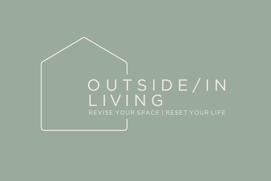 dusty rose and medium green logo options with a line-drawn house